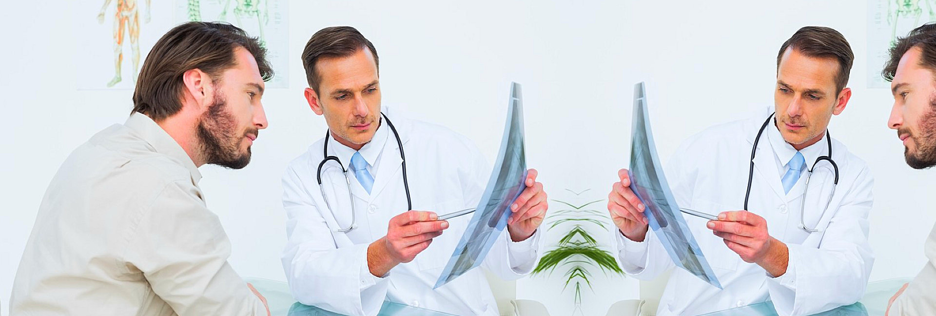 male doctor talking to his patient