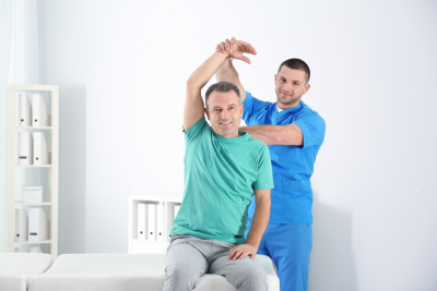 a male having physical examination
